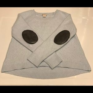 J. Crew Merino Wool Elbow Patch Crewneck Sweater